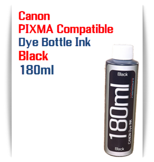 1 180ml Bottle Black Dye Ink