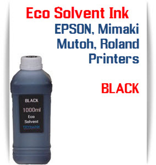 Black  Eco Solvent Ink 1000ml bottle ink - EPSON, Roland, Mimaki, Mutoh printers