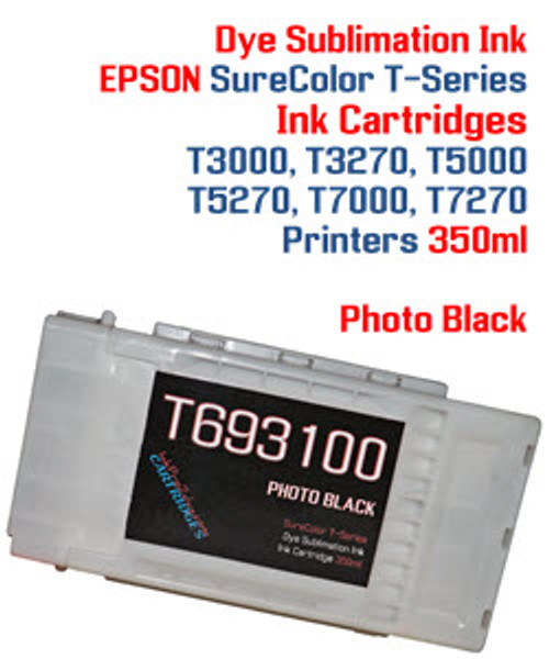 Photo Black  EPSON SureColor T-Series Compatible Dye Sublimation ink Cartridge 350ml