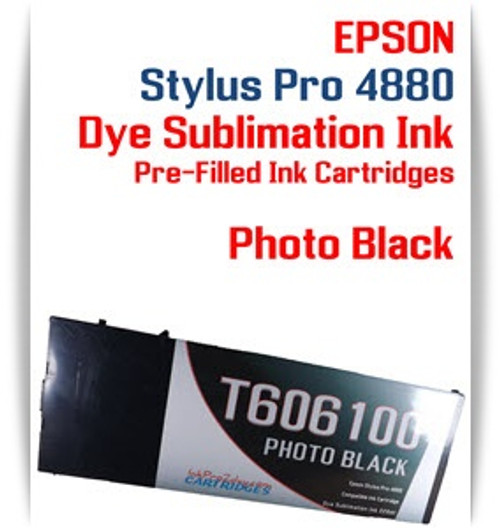 Photo Black Epson Stylus Pro 4880 Dye Sublimation Ink Cartridge 220ml