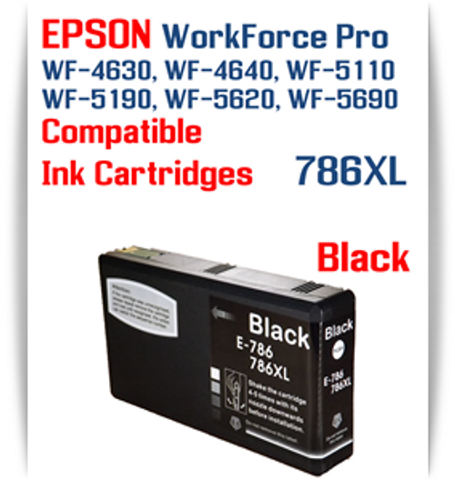 Black 786XL Epson WorkForce Pro Printer Compatible Ink Cartridge