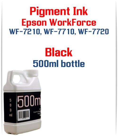 Black Pigment ink 500ml bottle Epson WF-7210 WF-7710 WF-7720 printers