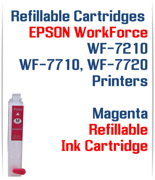 Magenta Refillable Ink Cartridge (empty) Epson WorkForce WF-7210, WorkForce WF-7710, WorkForce WF-7720 Printers
