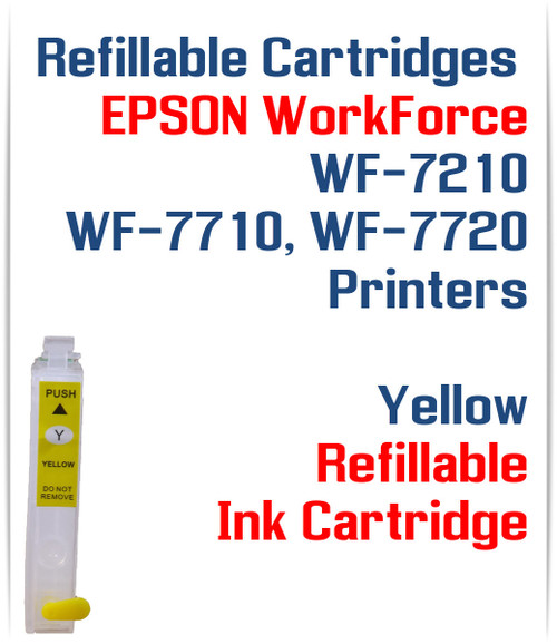 Yellow Refillable Ink Cartridge (empty) Epson WorkForce WF-7210, WorkForce WF-7710, WorkForce WF-7720 Printers
