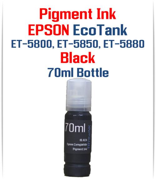 Black 70ml bottle EPSON EcoTank ET-5800 ET-5850 ET-5880 printers
