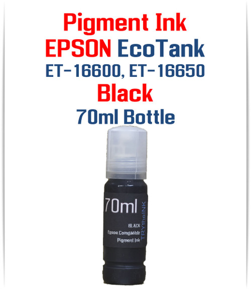 Black 70ml bottle EPSON EcoTank ET-16600 ET-16650 printers