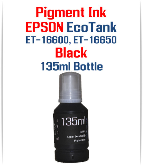 Black 135ml bottle EPSON EcoTank ET-16600 ET-16650 printers