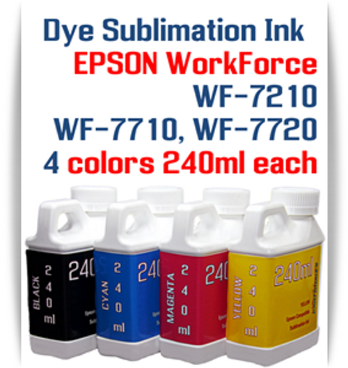 4-  Package   Included Colors: Black, Cyan, Magenta, Yellow  Epson WorkForce WF-7210, WorkForce WF-7710, WorkForce WF-7720 printers