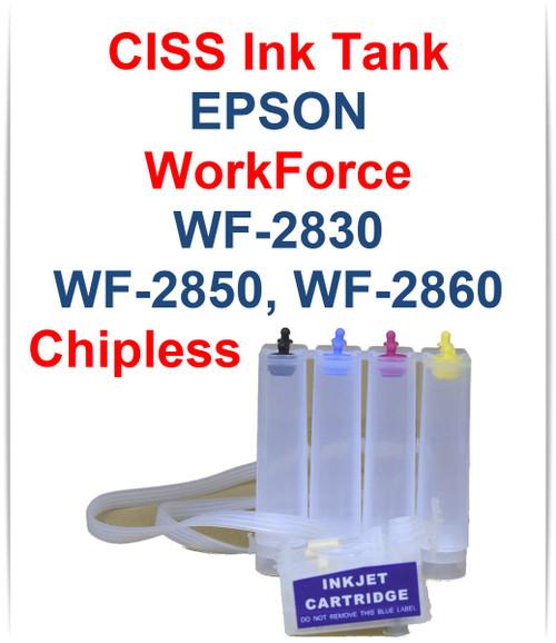 CISS Chipless Ink Tank for Epson WorkForce WF-2830 WF-2850 WF-2860 Printers