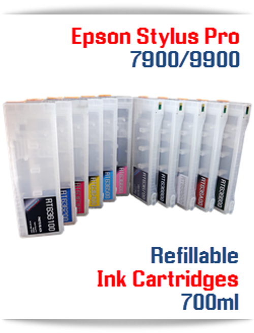 Epson Stylus Pro 7900, 9900 Refillable Ink Cartridges
