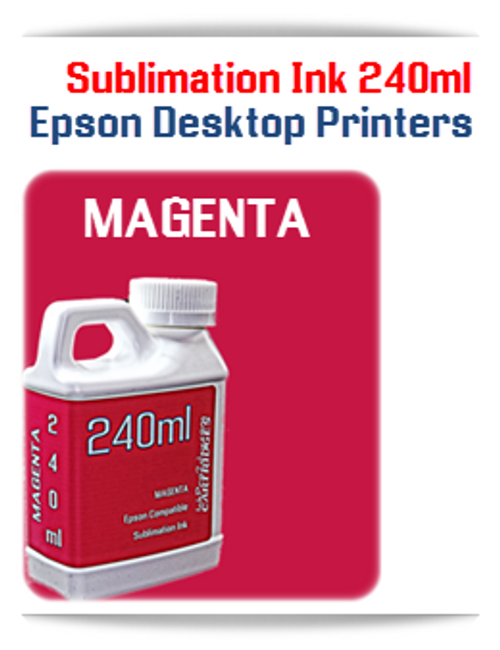 MAGENTA 240ml Epson Desktop printers compatible Sublimation Ink