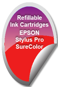 Refillable Ink Cartridges for EPSON Stylus Pro and SureColor Printers