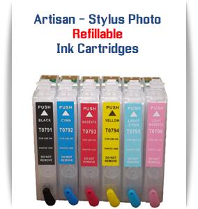 EPSON Artisan 1430 - Stylus Photo 1400 Printer Refillable Ink Cartridges