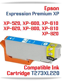 T273XL220 Cyan Epson Expression Premium XP Printer ink cartridge