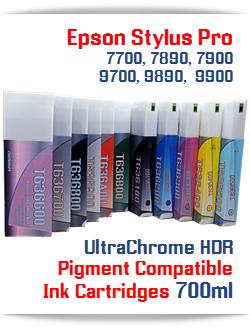 Epson Stylus Pro 7700, 9700, 7890, 9890, 7900, 9900 compatible Ink Cartridges 700ml