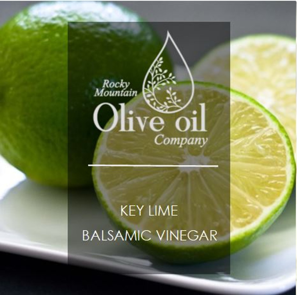 Sweet and tart, key limes are native to Southeast Asia and smaller than Persian limes. This zesty key lime white balsamic makes an excellent reduction to accompany cheesecakes, fruit tarts, or fresh fruit salads.