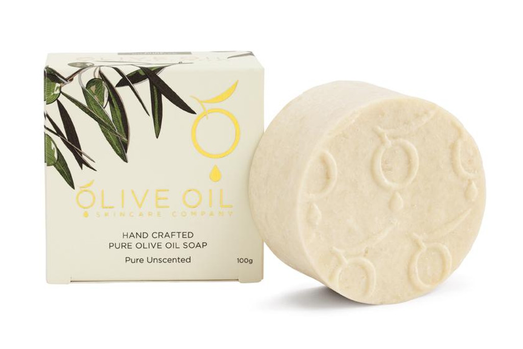 Olive Oil Skincare Handmade Pure Unscented Soap 100g