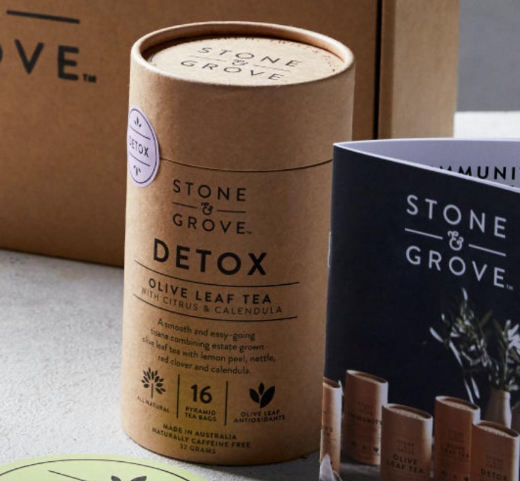 Stone & Grove Detox Olive Leaf Tea