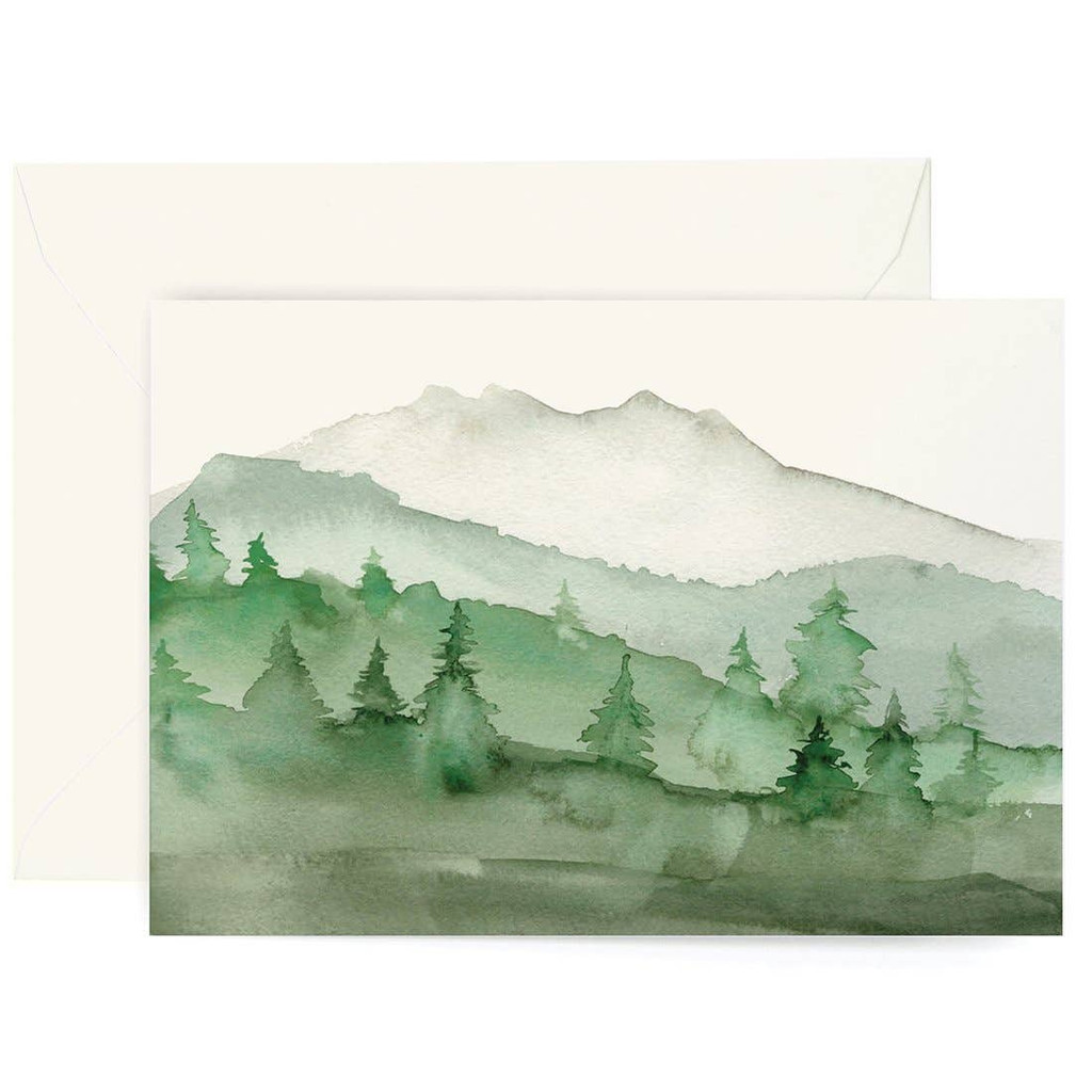 Forest Watercolor Card