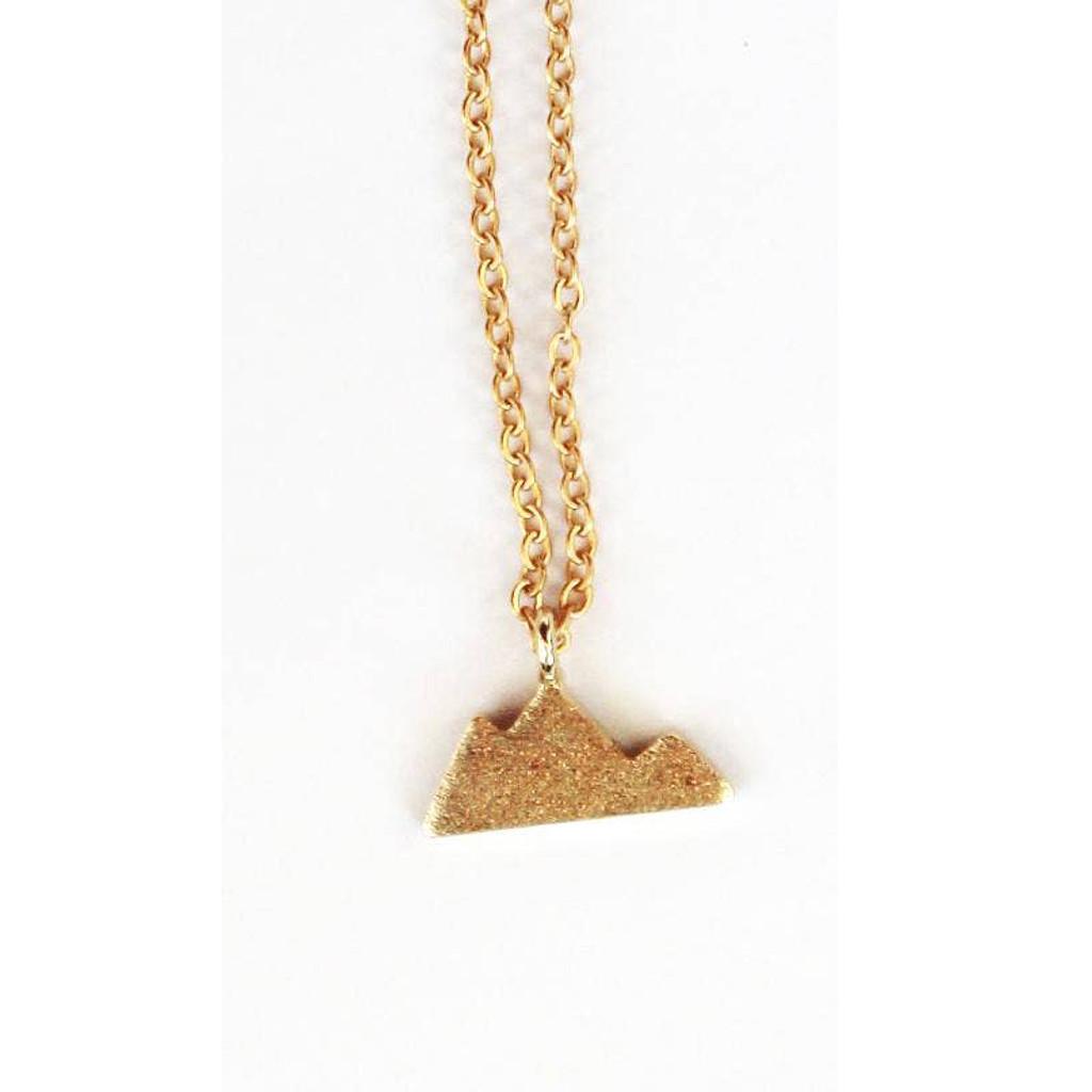 Mini Mountain Range Gold Necklace