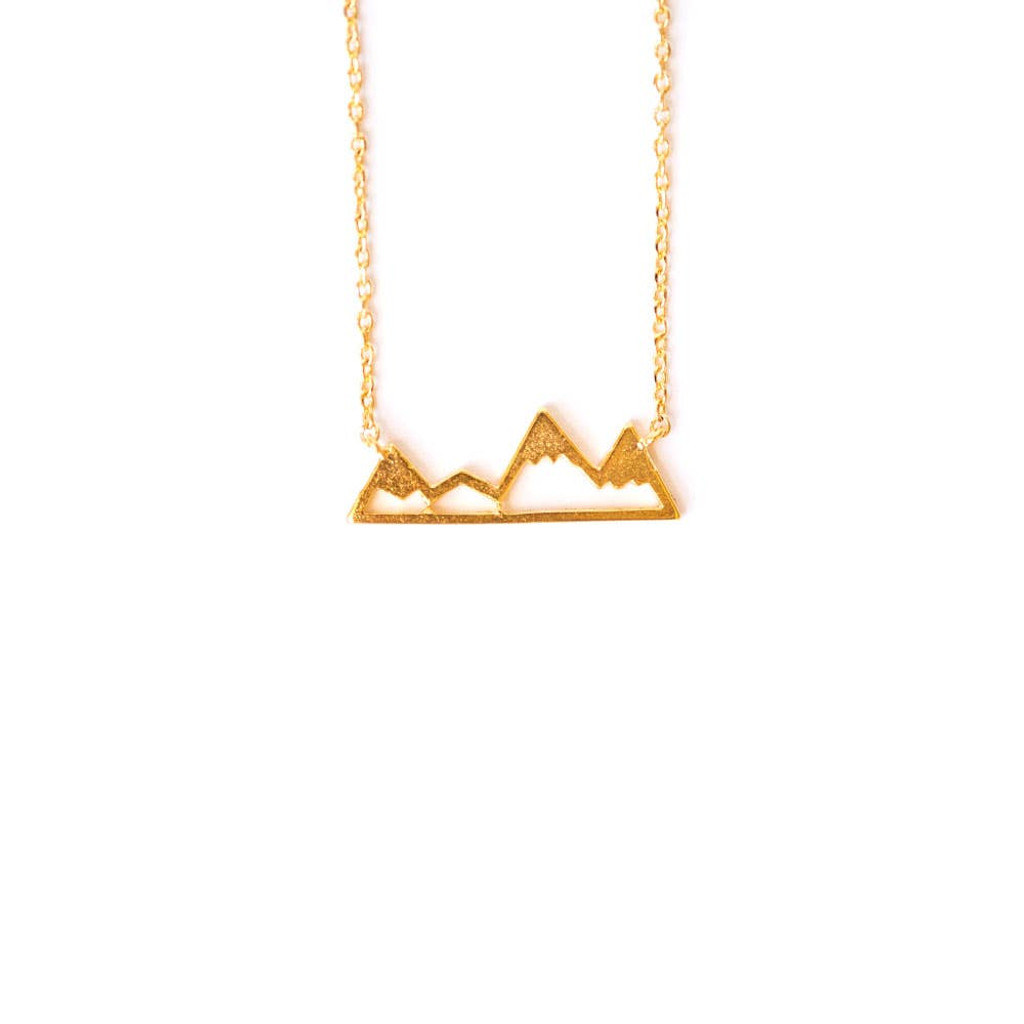 Snowy Mountain Range Rose Gold Necklace