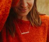 Colorado Script Gold Necklace