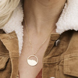 Round Mountain Range Silver Necklace