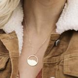 Round Mountain Range Gold Necklace