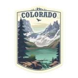 Colorado Lake & Mountain Sticker
