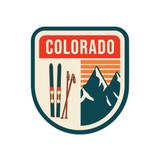 Colorado Skis & Mountains Sticker