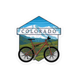 Colorado Bike & Mountains Sticker