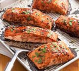 Smoky Mango Balsamic Glazed Salmon