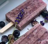 Blueberry Lavender Balsamic Popsicles