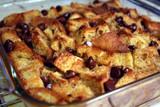 Chocolate Cherry Balsamic Bread Pudding