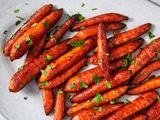 Balsamic Roasted Carrots with Harissa Ketchup
