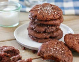 Vegan Salted Rosemary Chocolate Cookies