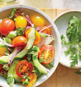 Cucumber & Tomato Salad with Lemon Vinaigrette