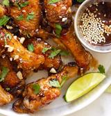 Garlic Cayenne Balsamic Glazed Wings