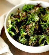 Harissa Baked Kale Chips