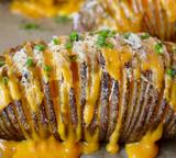Roasted Garlic Hasselback Potatoes