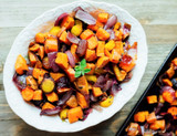 Maple Balsamic Roasted Winter Veggies