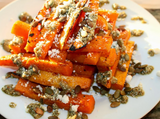 Roasted Butternut Squash Stacks with Pesto