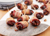 Maple Balsamic Bacon Wrapped Dates