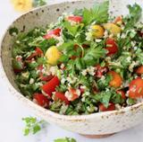 Bulgur Salad with Mediterranean Vegetables