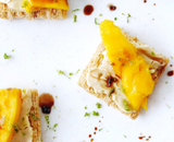Jalapeno Balsamic Topped Crackers