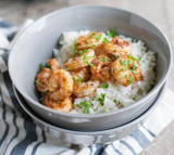 Pineapple Harissa Grilled Shrimp with Coconut Lime Rice
