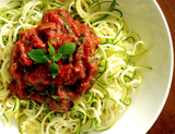 Vegan Zoodles with Red Sauce