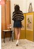 Roland Asymmetric Denim Skirt - Dark Denim