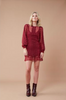 Layla Lace Dress - Burgundy