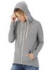 Cool Down Zip Hoodie - Eco Grey